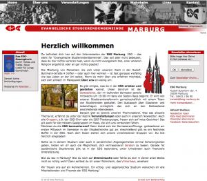 alte ESG Homepage