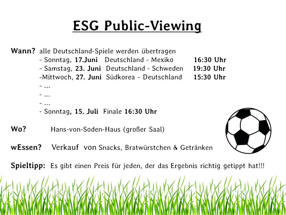 Public Viewing - ESG-Marburg.de